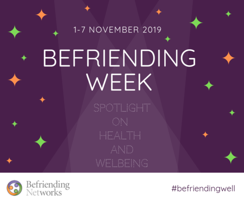 The Countdown Begins: 100 days until Befriending Week 1-7 November 2019!