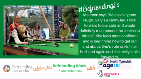 Age UK North Tyneside - Gadget Queen Maureen: #BefriendingIs having a good laugh and looking forward to our calls