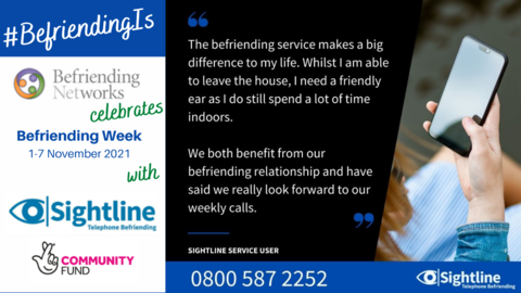 Sightline - Evelyn: #BefriendingIs making a big difference to my life