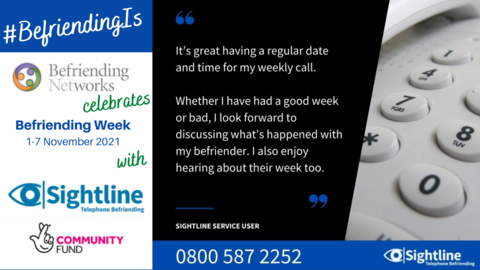 Sightline - MG: #BefriendingIs looking forward to chatting about the week!