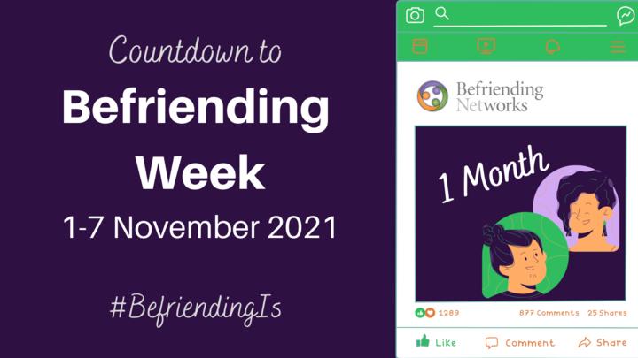 Countdown to Befriending Week: 1 Month to Go!